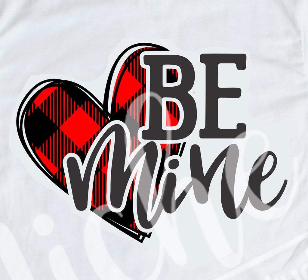 *Be Mine Buffalo Plaid Decal