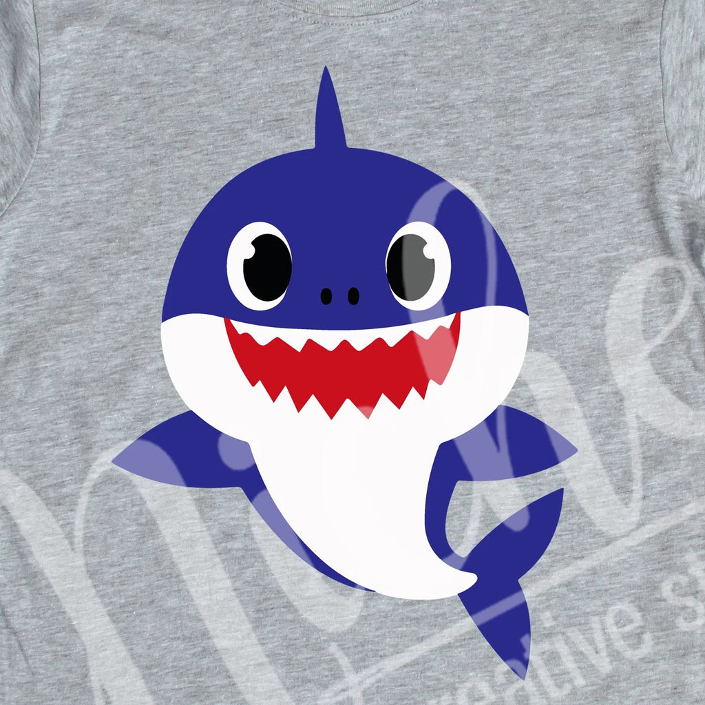 *Blue Daddy Shark Decal