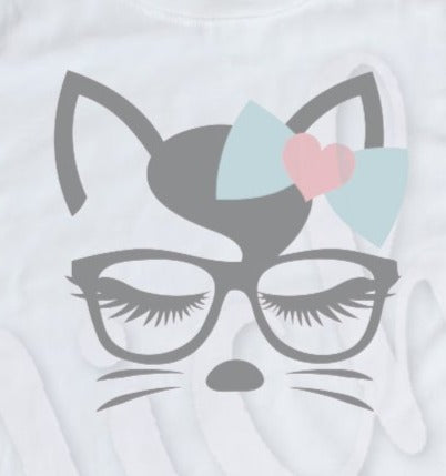 * Cat with Glasses Decal