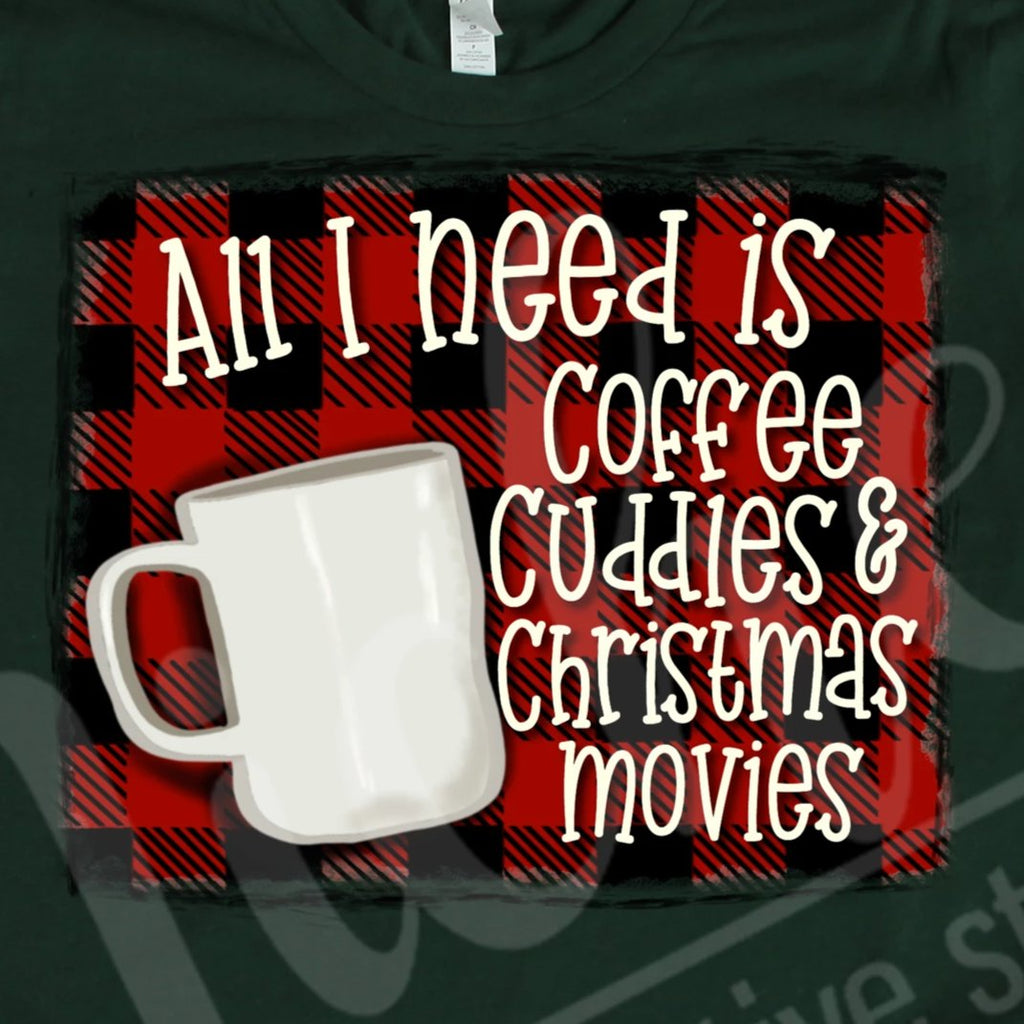 *Coffee Plaid Decal