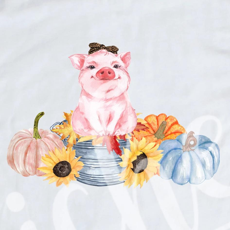 *Fall Pig Decal