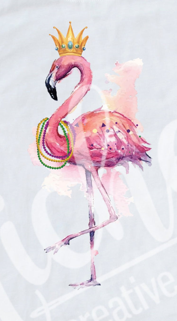 *Flamingo Mardi Gras Decal
