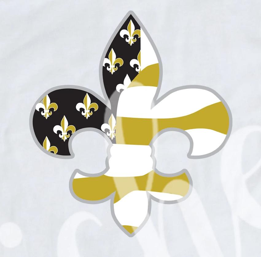*Fleur Black and Gold Decal