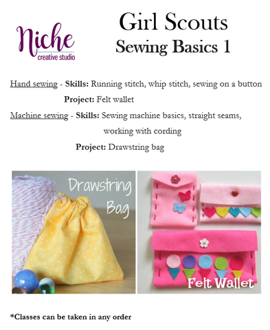 Girl Scout Class: Sewing Basics 1