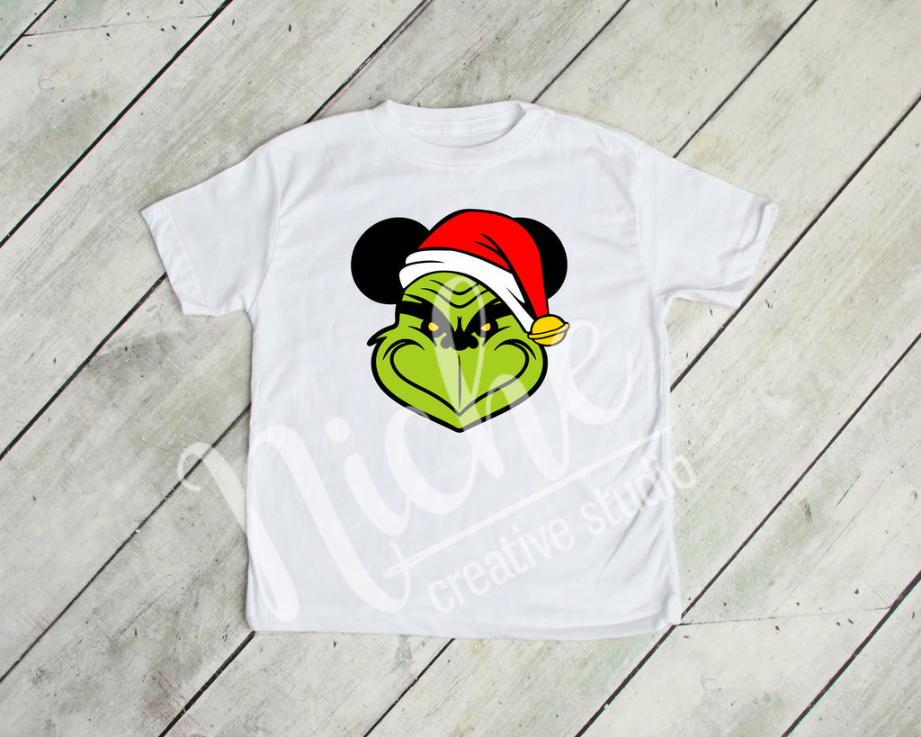 *Grinch Mouse Ears Decal