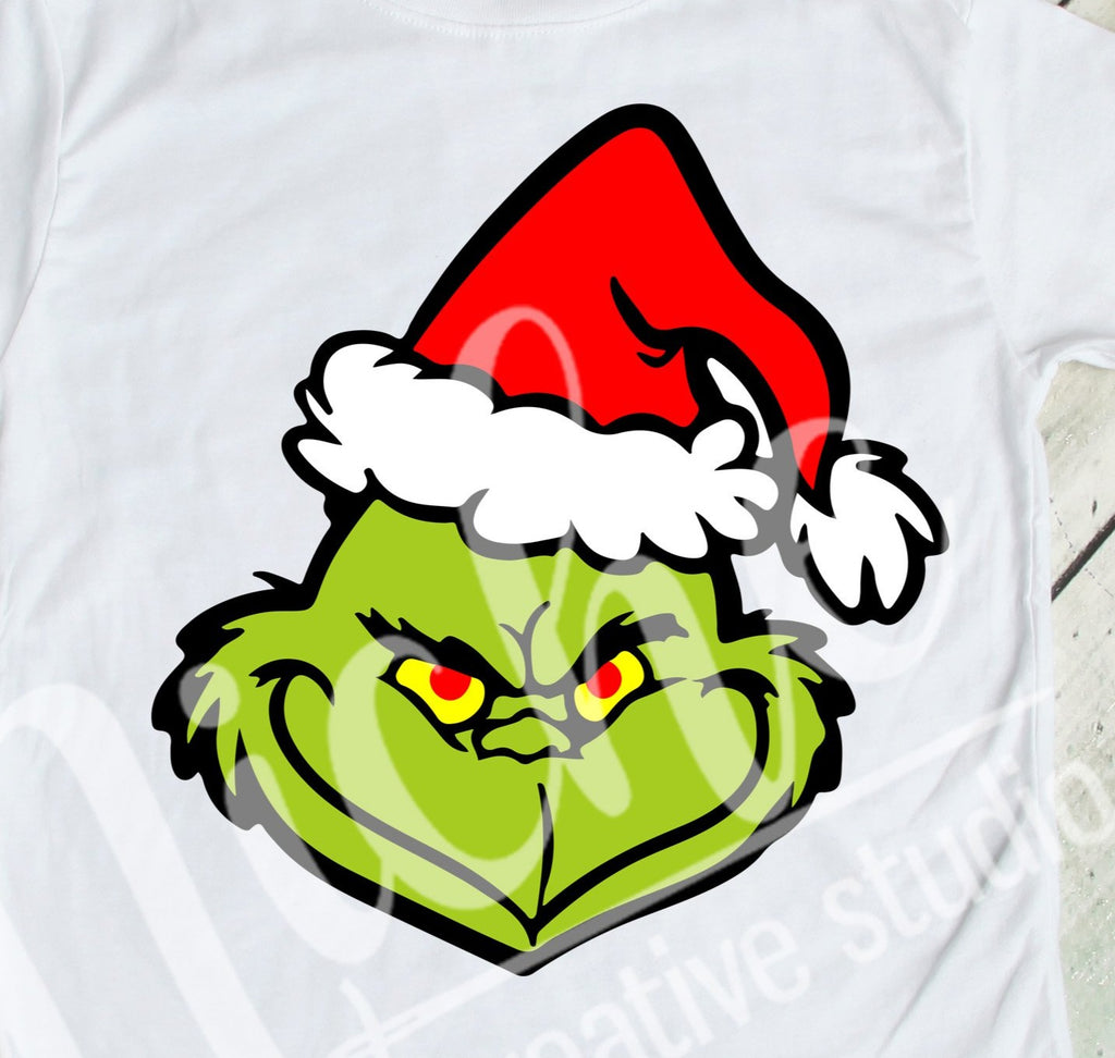 * Grinch Santa Decal