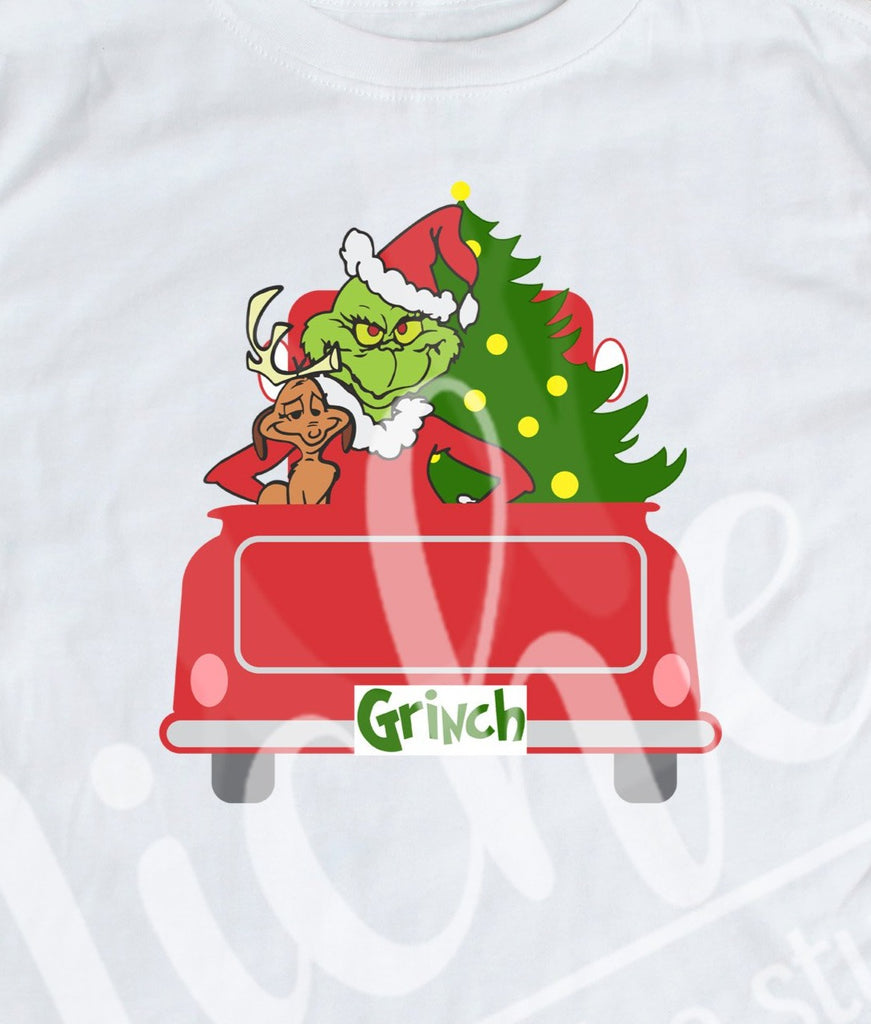 * Grinch Truck Decal