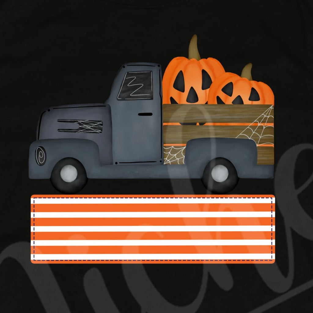 *Halloween Truck with Name Block Decal