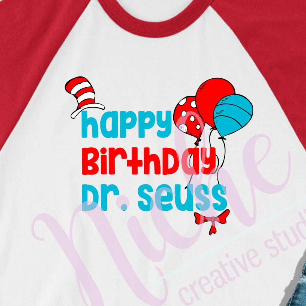 * Happy Birthday Dr. Suess Decal