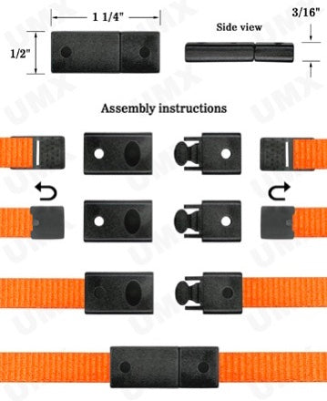 Flat Breakaway Buckles for Lanyards