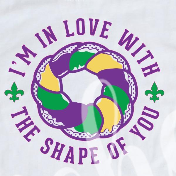 *King Cake Shape of You Decal