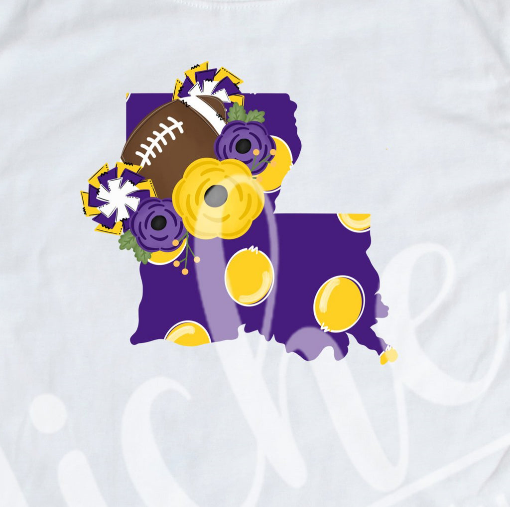 *Louisiana Purple Gold Football Decal