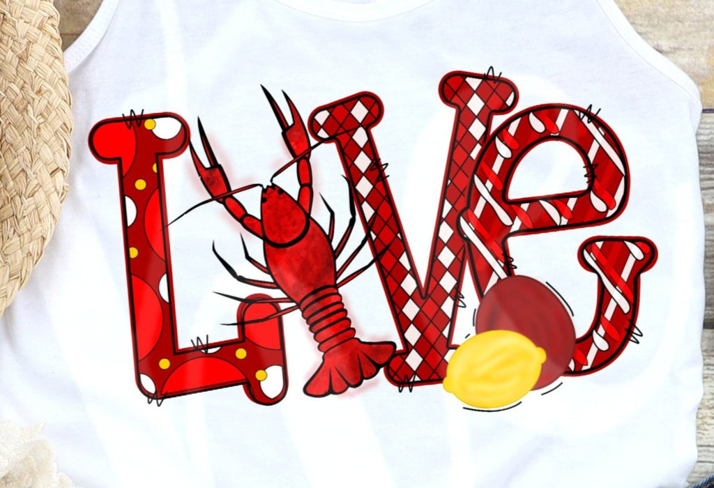 *Love Crawfish Decal