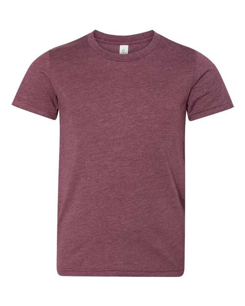 Bella Youth T-shirt - HEATHER MAROON