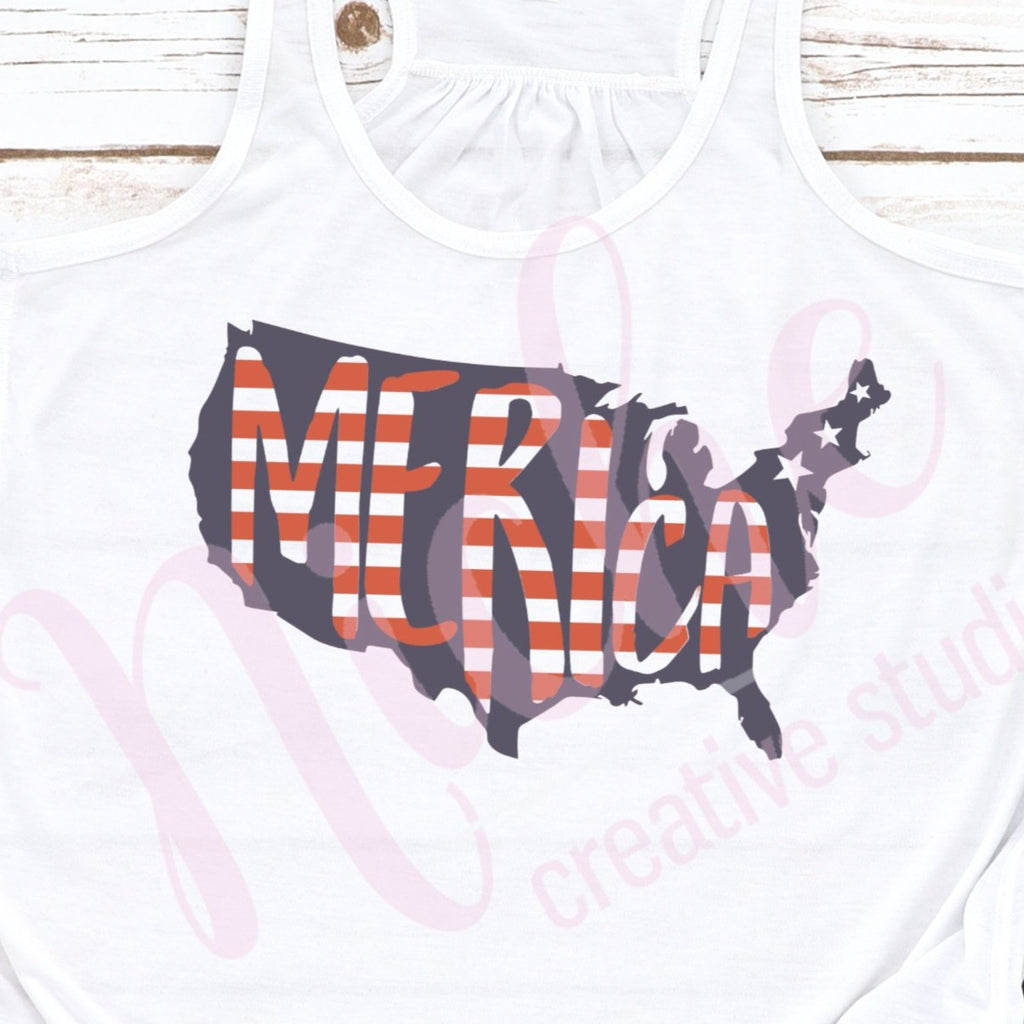 * Merica Stripes Decal
