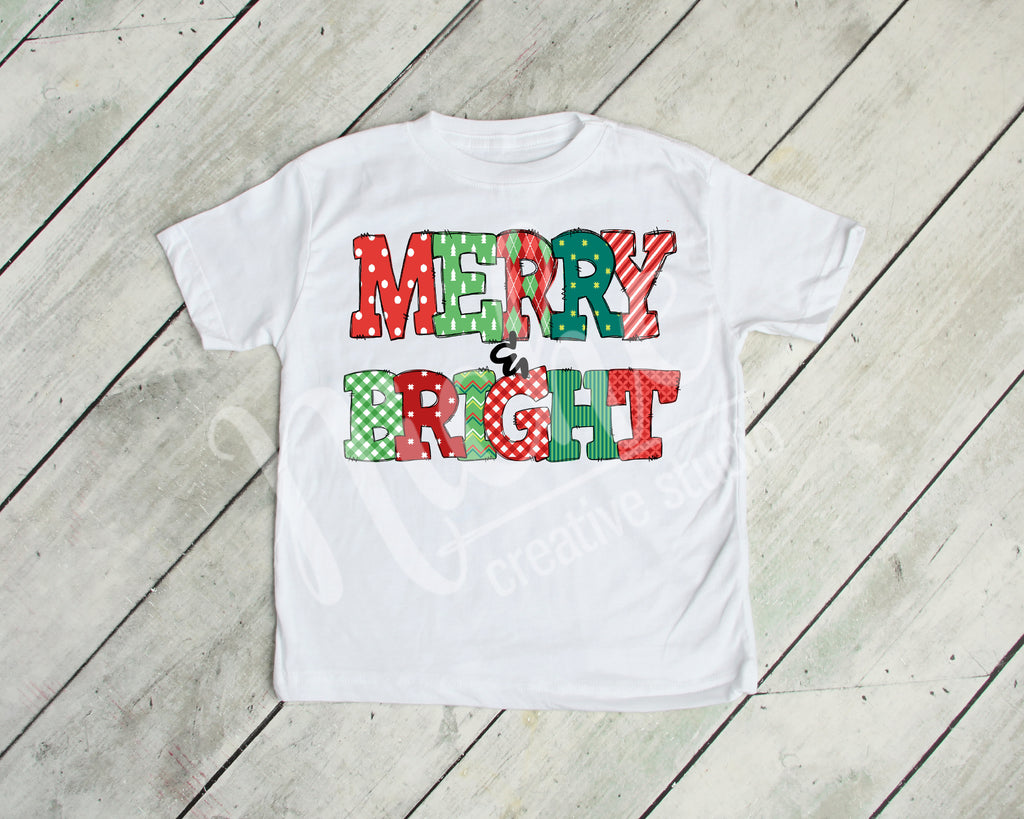 * Merry & Bright Decal