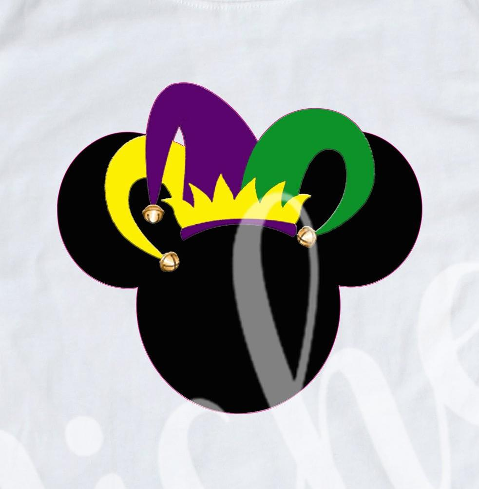 *Mouse Jester Hat Bells Decal