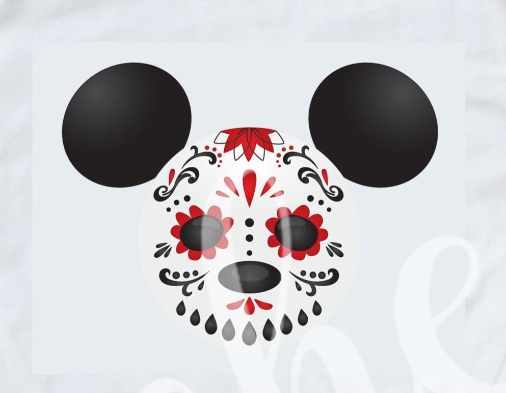* Mickey Skull Decal