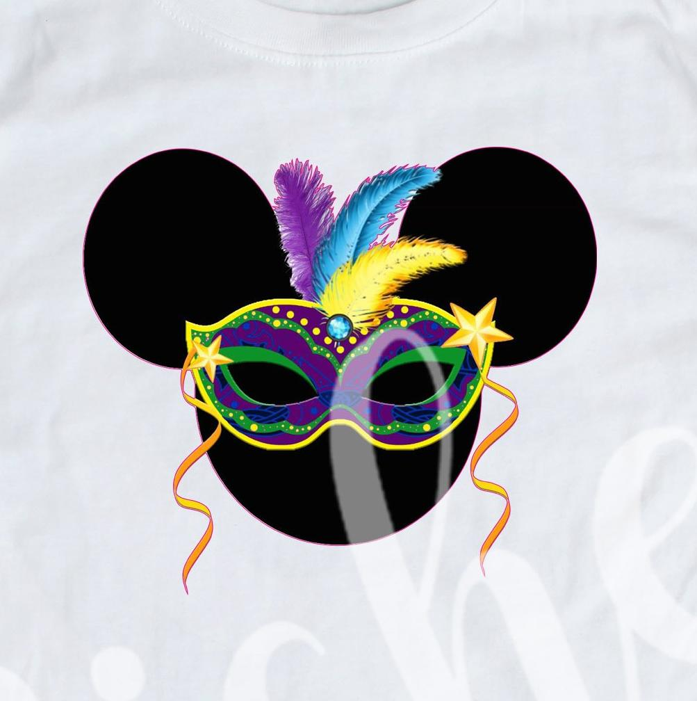 *Mouse Mardi Gras Mask Decal