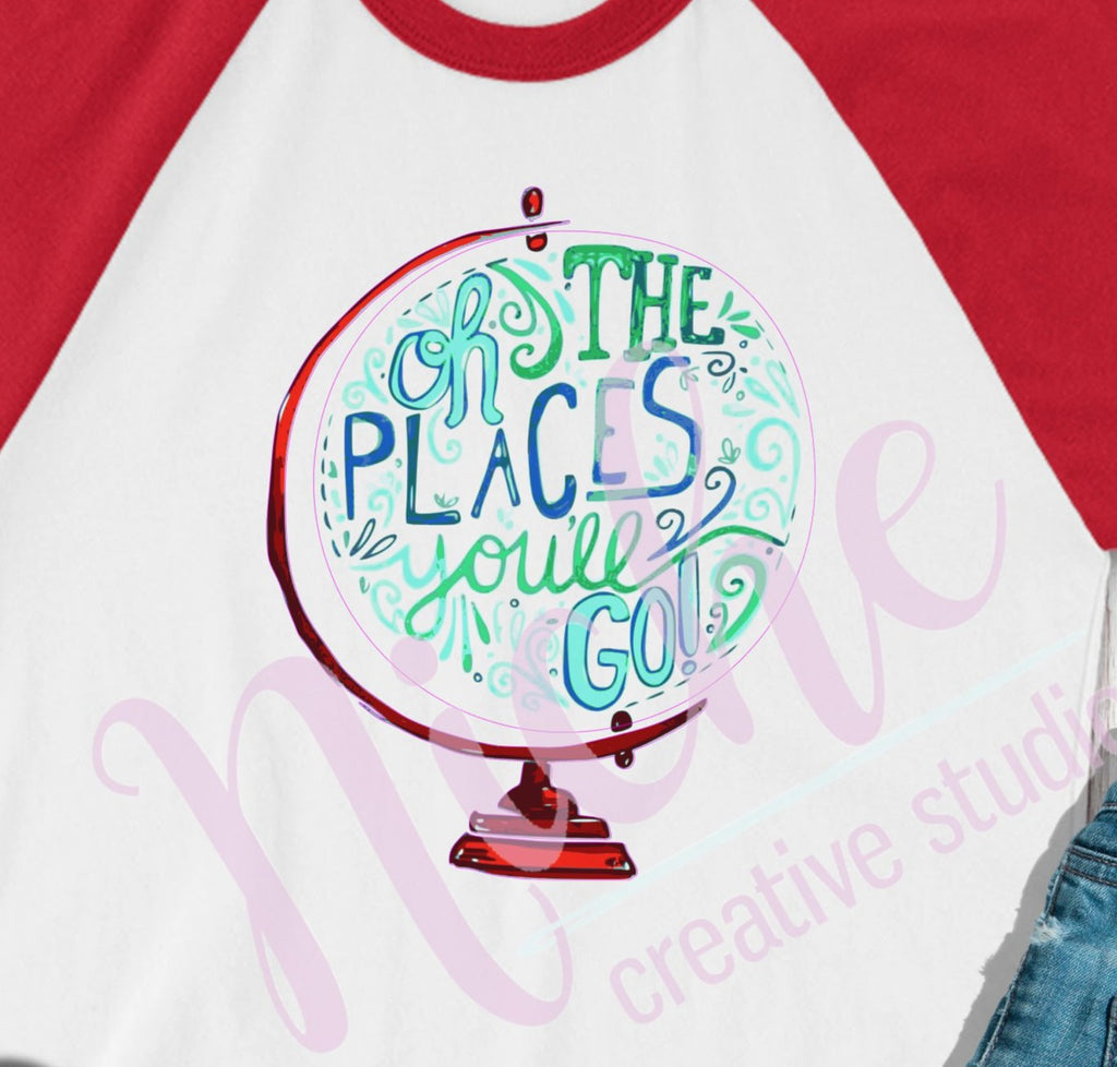 * Oh the Places Globe Decal
