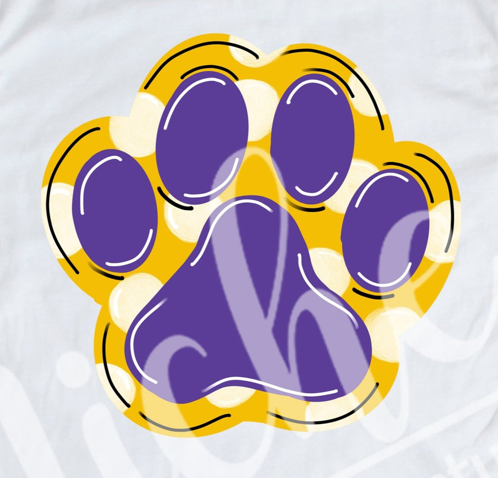* Tiger Paw Print Decal