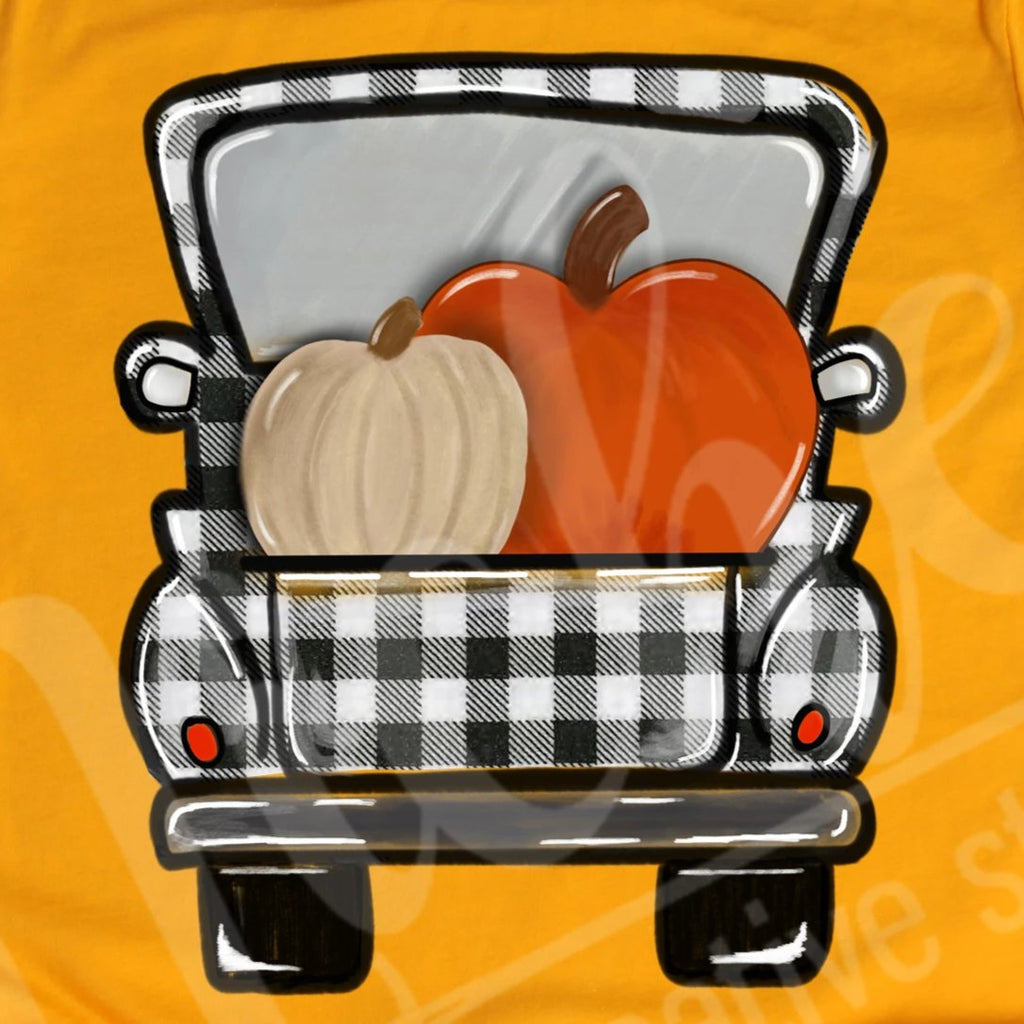 *Pumpkin Plaid Truck Decal