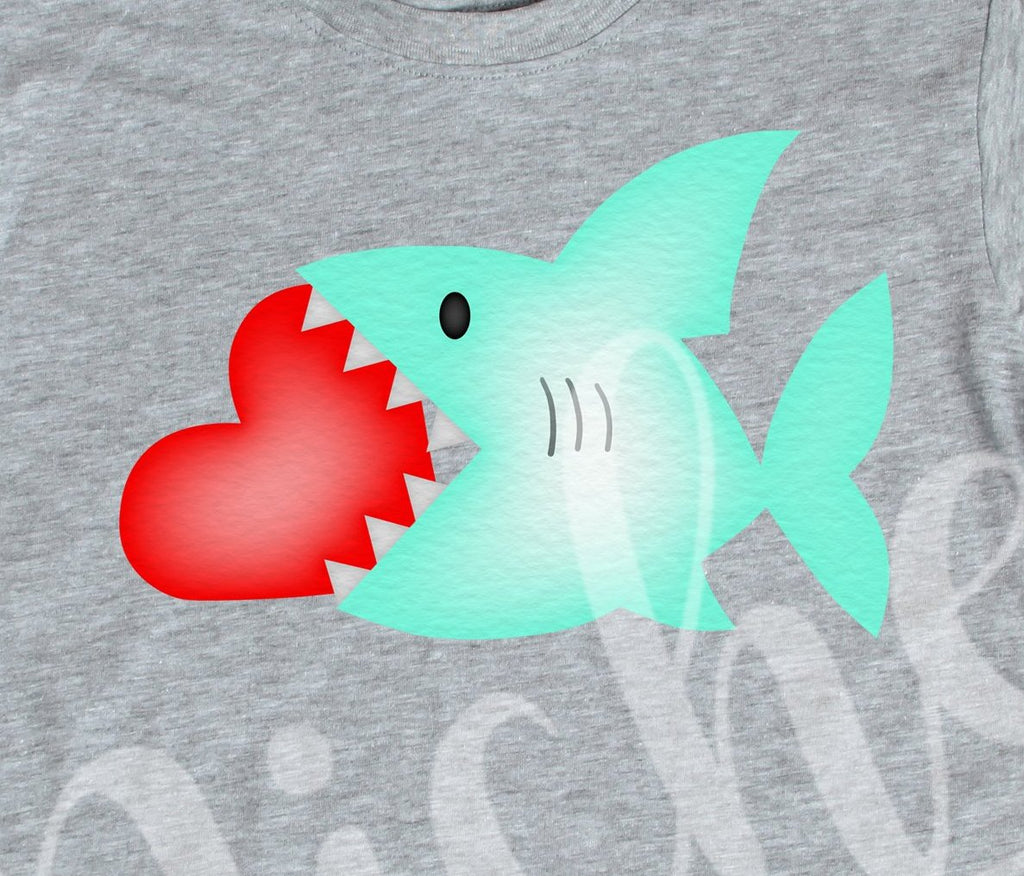 *Shark Valentine Decal
