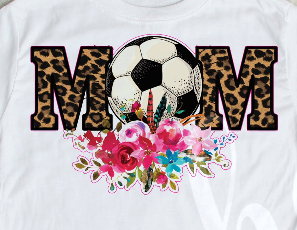 *Soccer Mom White Outline Decal
