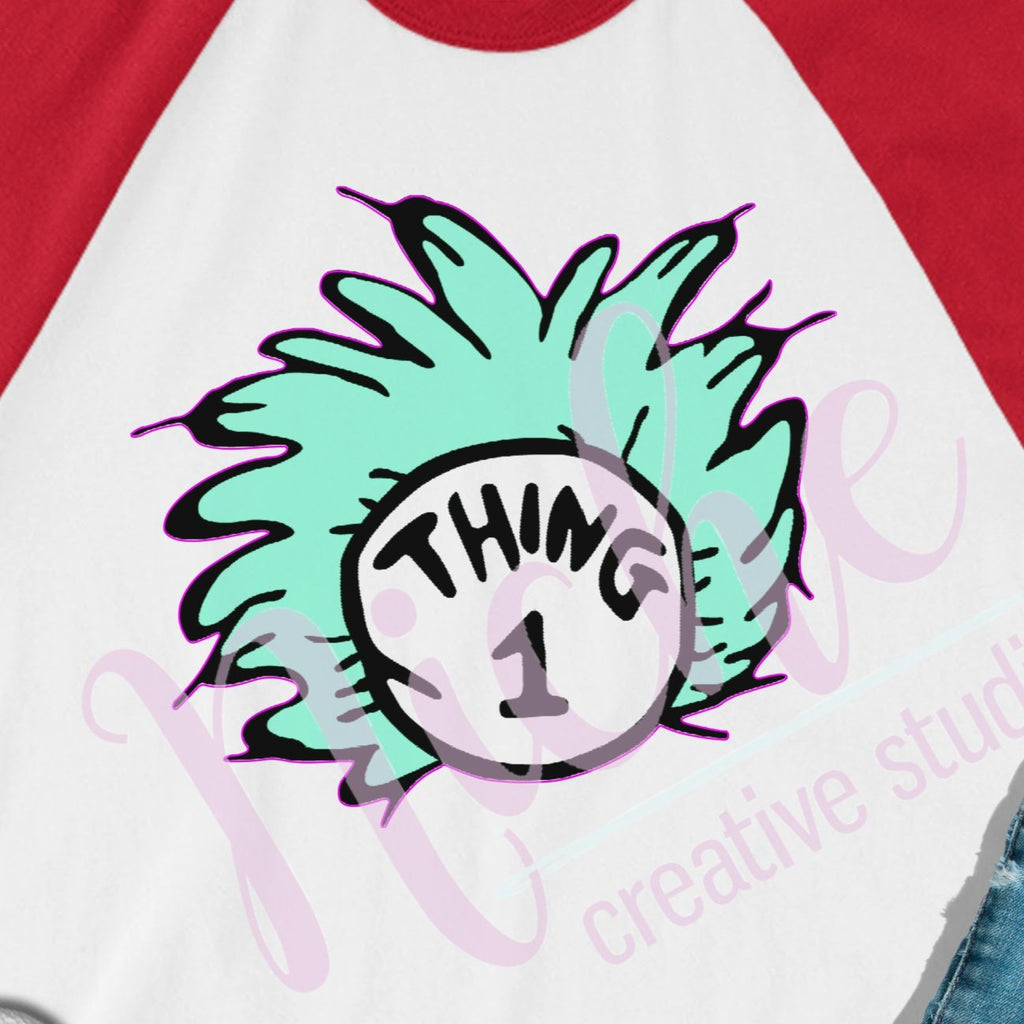 * Thing 1 Hair Decal