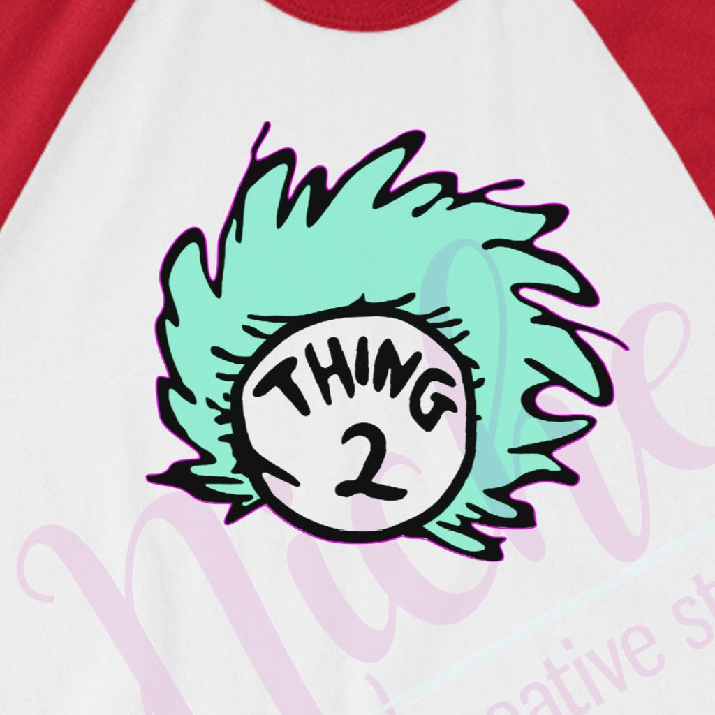 * Thing 2 Hair Decal