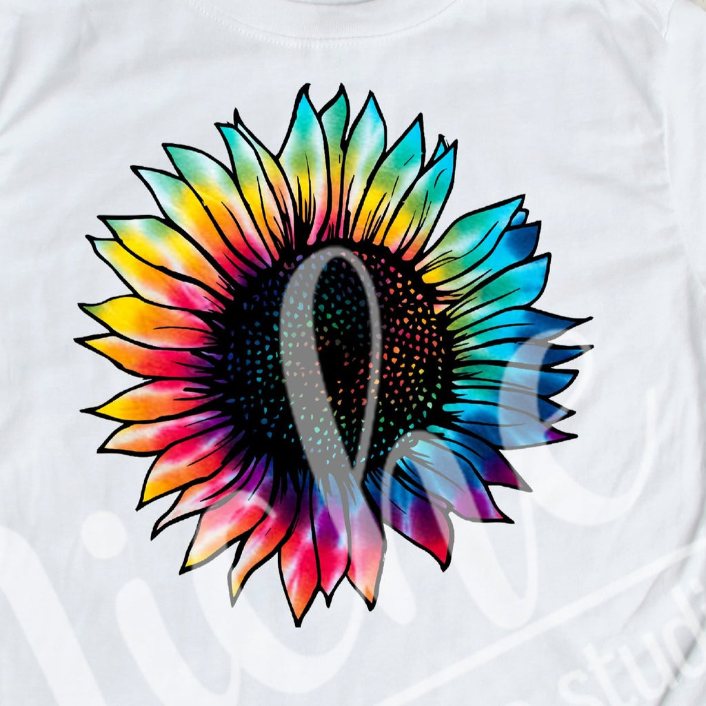 * Tie Dye Sunflower Decal
