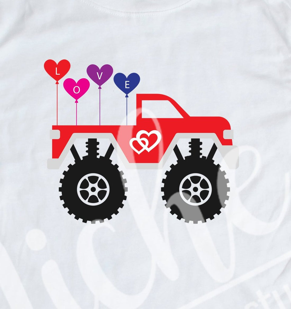 *Valentine Monster Truck Decal