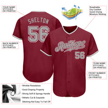 Load image into Gallery viewer, Custom Crimson Gray-White Authentic Baseball Jersey