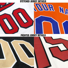 Load image into Gallery viewer, Custom White Black-Gold Baseball Jersey