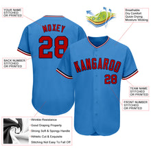 Load image into Gallery viewer, Custom Powder Blue Red-Navy Authentic Baseball Jersey