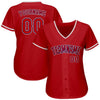 Custom Red Red-Navy Authentic Baseball Jersey