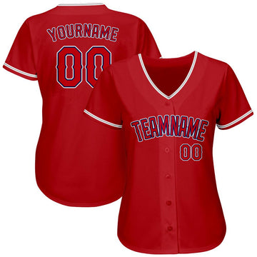 Custom Red Red-Royal Authentic Baseball Jersey