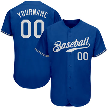Custom Royal White Authentic Baseball Jersey
