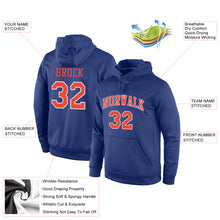 Load image into Gallery viewer, Custom Stitched Royal Orange-White Sports Pullover Sweatshirt Hoodie