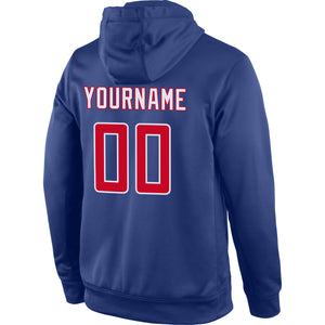 Custom Stitched Royal Red-White Sports Pullover Sweatshirt Hoodie