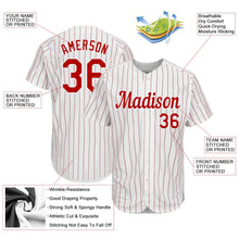Load image into Gallery viewer, Custom White Red Strip Red-White Authentic Baseball Jersey