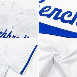 Custom White Royal Authentic Baseball Jersey