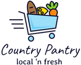 Country Pantry with shopping cart
