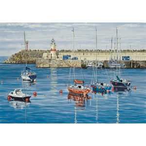 Evening in Douglas Harbour Greetings Card