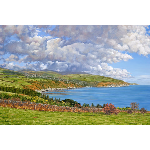 Laxey Coast from Clay Head Print