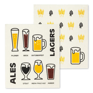 Swedish dishcloths gift for beer lover
