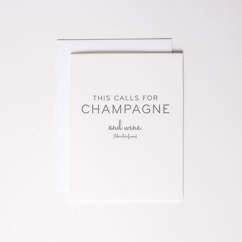 Card - champagne and wine - Cheerfetti Gift Co.