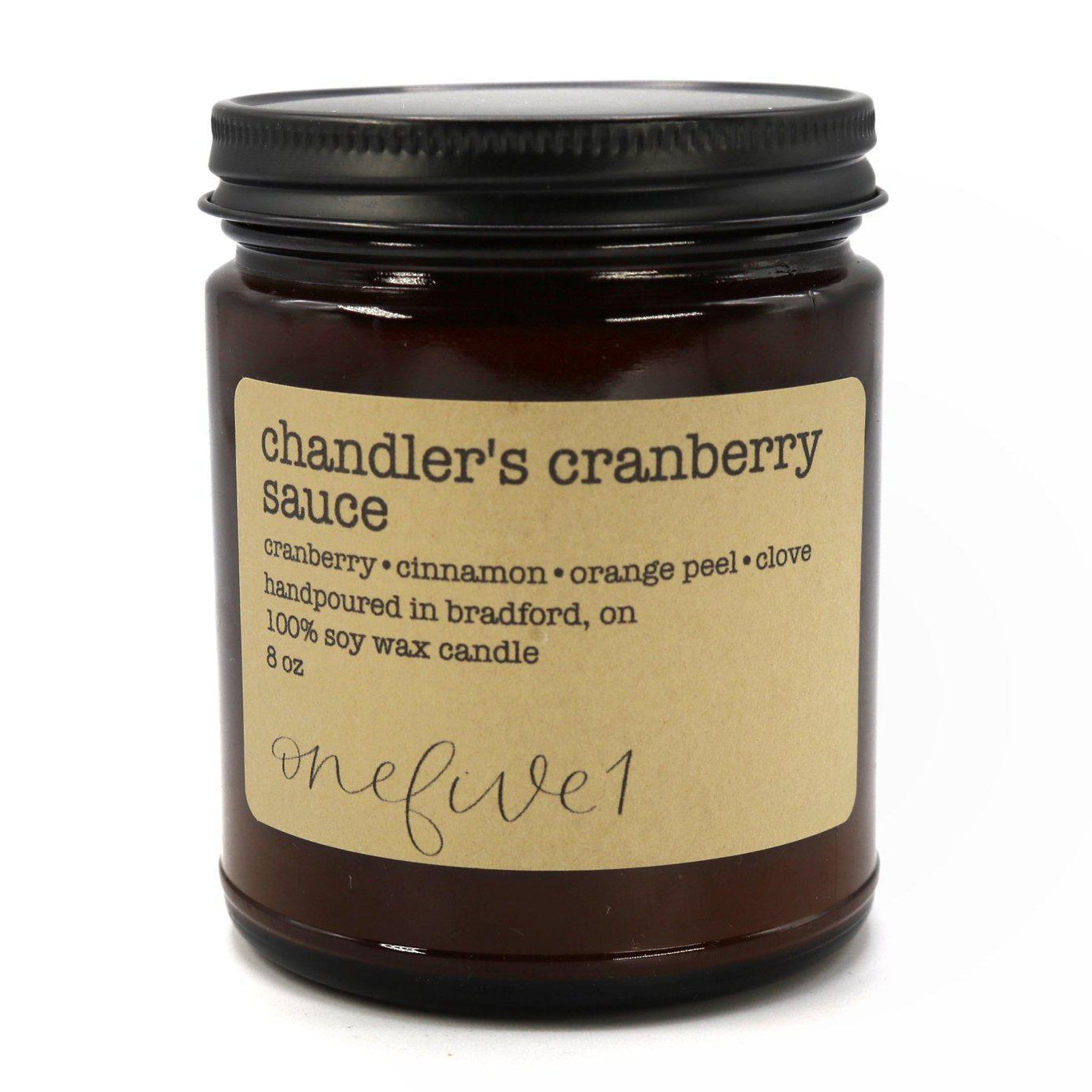 Soy candle - Chandler's Cranberry Sauce - Cheerfetti Gift Co.