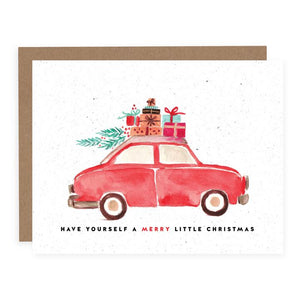 Holiday card - Christmas car