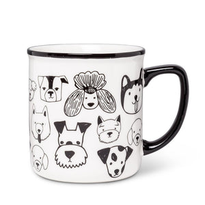 Dog faces mug gift for dog lovers
